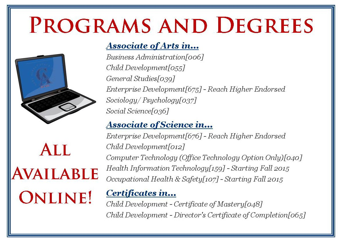 Online programs and degrees heading all in one carl albert state online programs and degrees heading all in one 1betcityfo Image collections